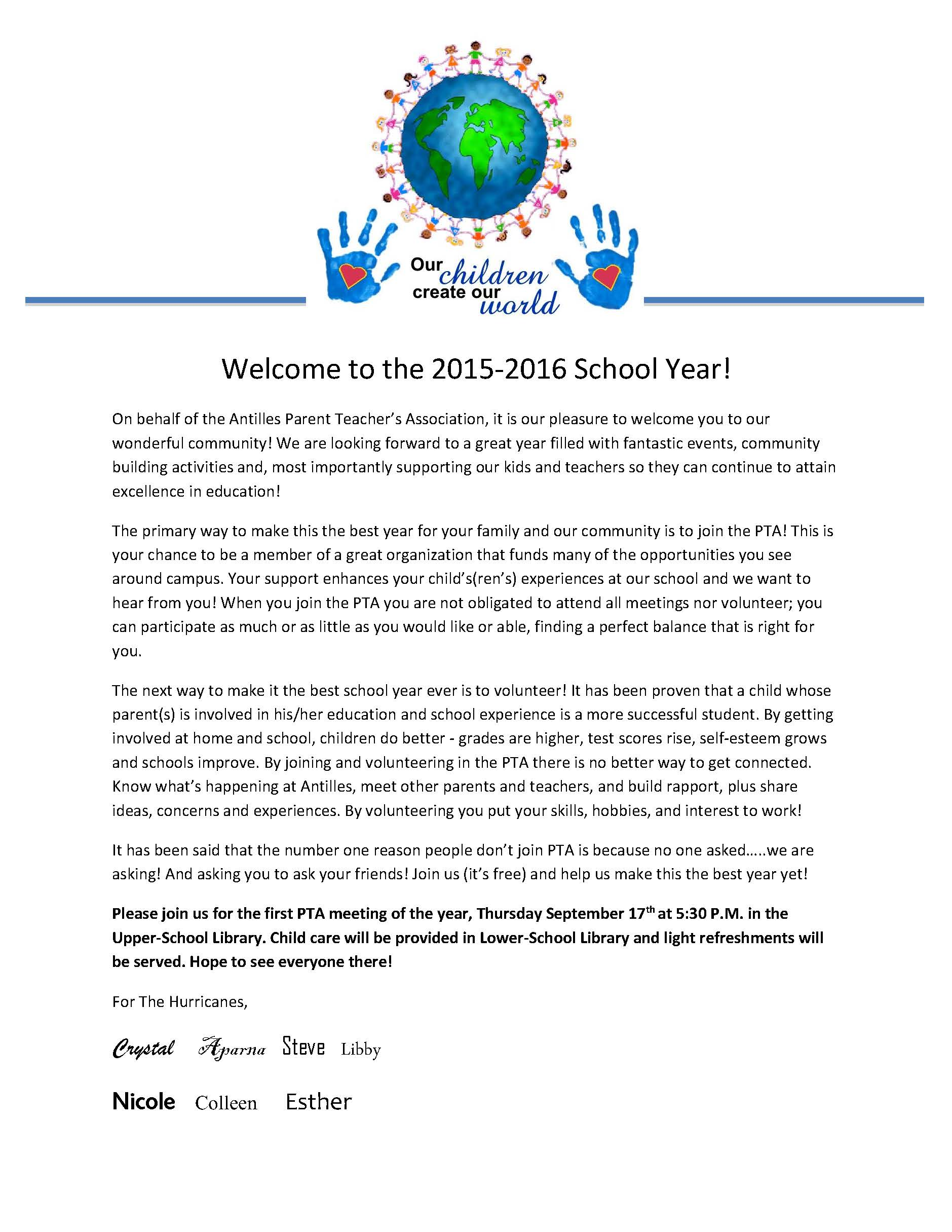 Sample Welcome Back To School Letters From Teachers